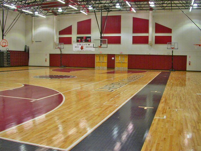 Lakeview Middle School Gymnasium Wharton Smith Inc