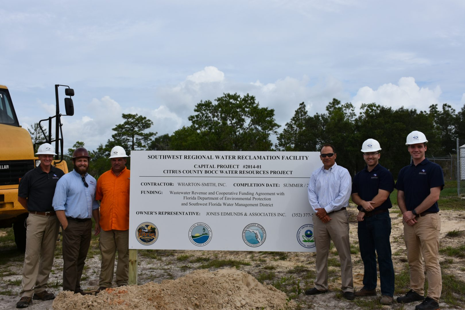 Wharton-Smith Breaks Ground on Southwest Regional Water Reclamation Facility in Citrus County