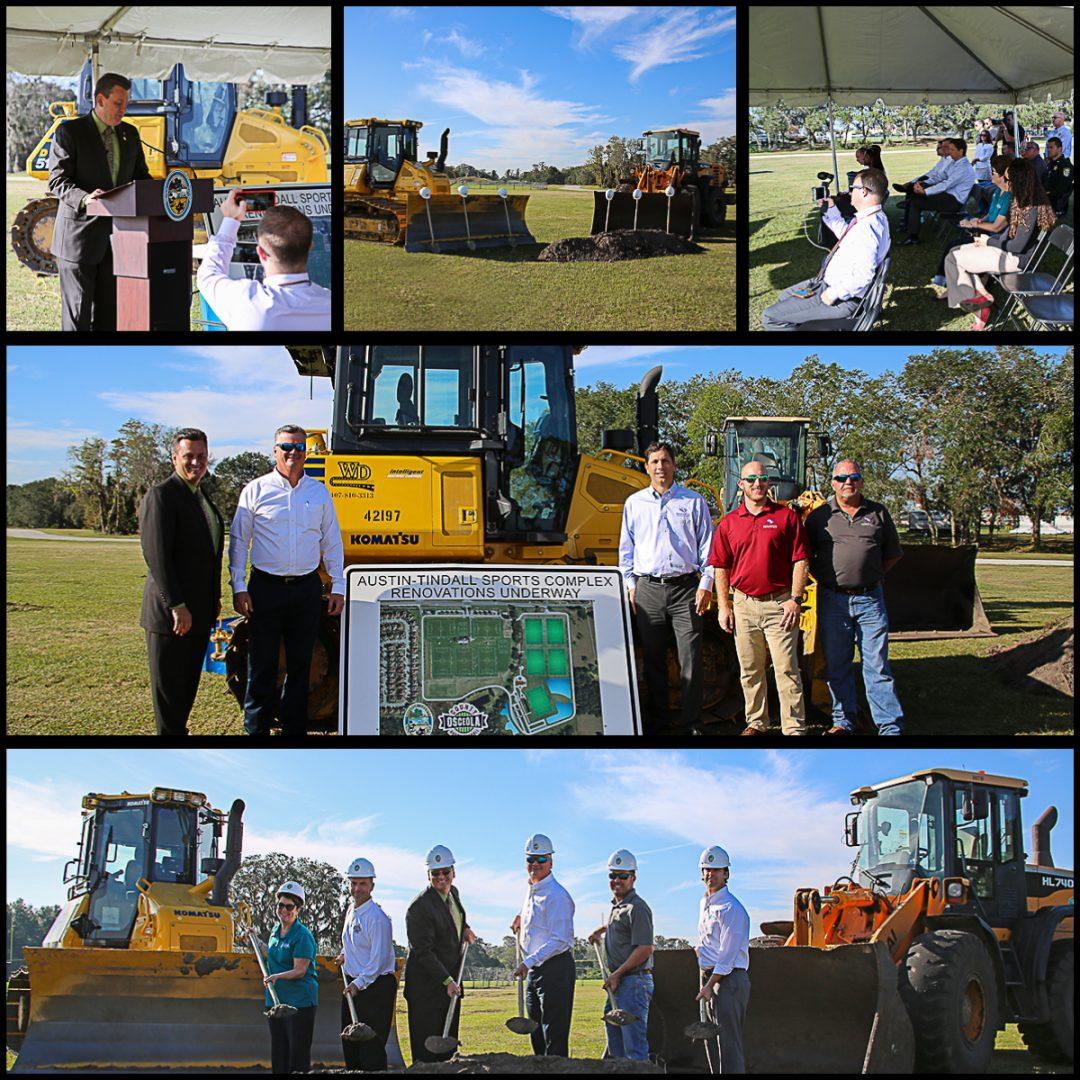 Wharton-Smith Breaks Ground on Improvements to Osceola County's Austin-Tindall Park