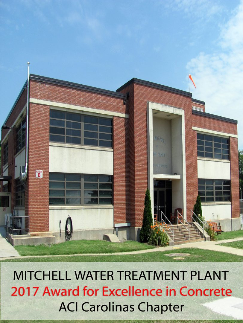 Mitchell Water Treatment Plant Phase I Project Wins 2017 Award for Excellence in Concrete