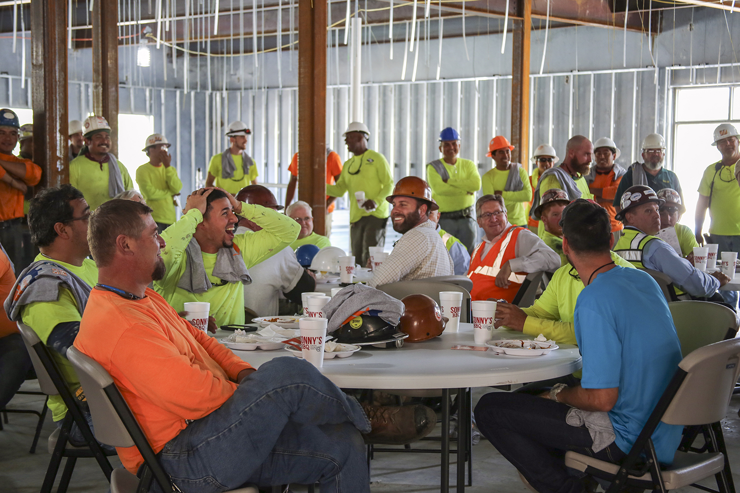 Wharton-Smith Celebrates Topping Out of Hillcrest Elementary School